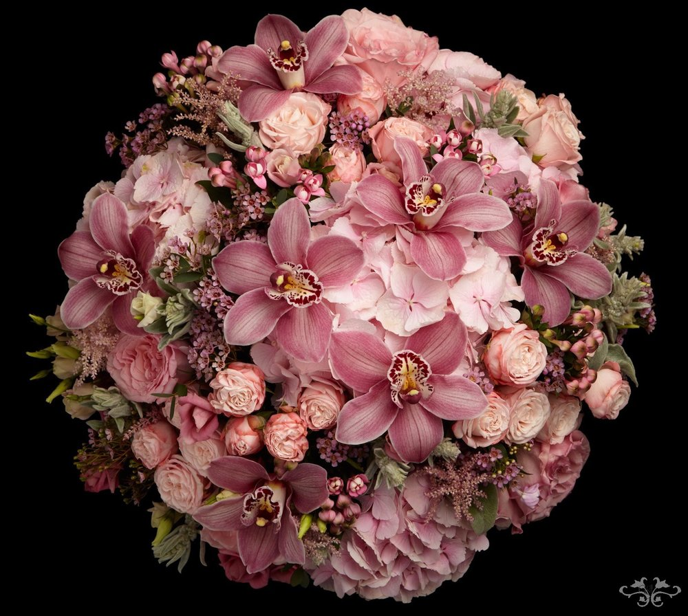Pink summer flowers by Neill Strain Belgravia
