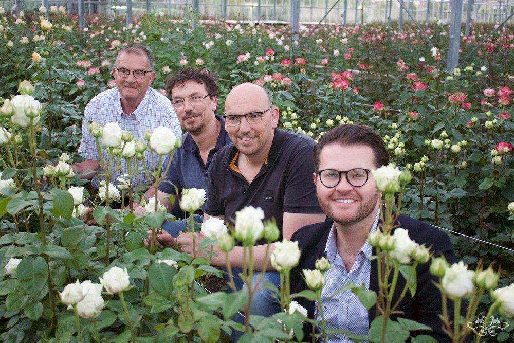 Ed and Marc Sassen of VIP Roses, with Neill Strain and Loek Van Eeden.