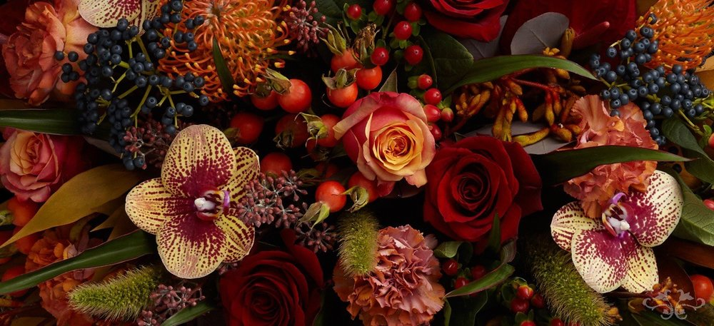 Autumn flowers Neill Strain Floral Couture