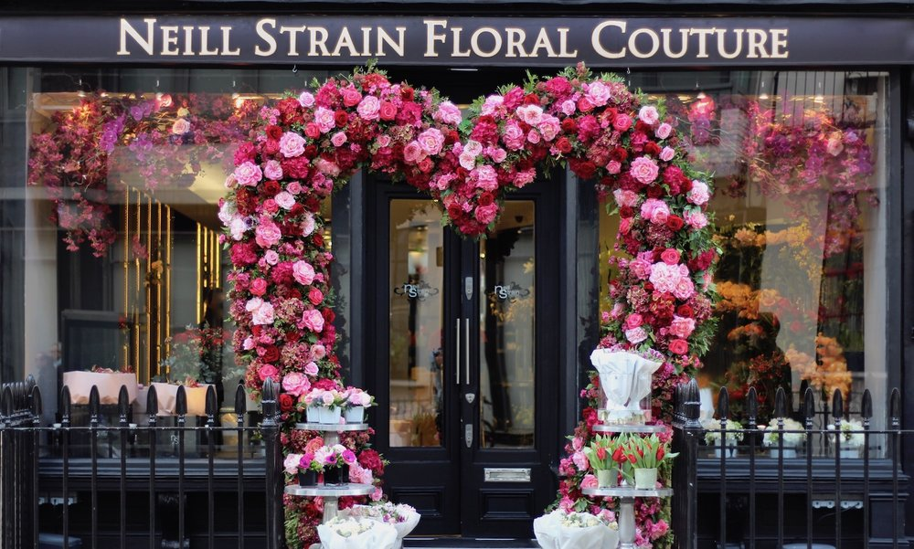 Luxury Flowers for Valentine's Day at Neill Strain Floral Couture, Belgravia, London