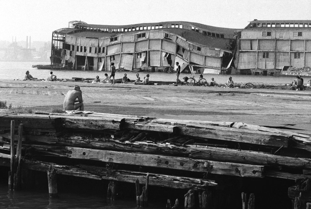 Looking across Charles Street pier toward Bethune Street pier after 1978 collapse