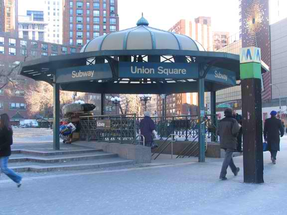14th Street/Union Square subway station at the surface