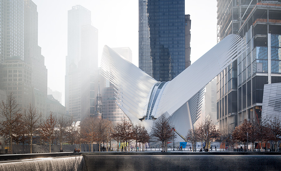 World Trade Center Transportation Hub exterior view