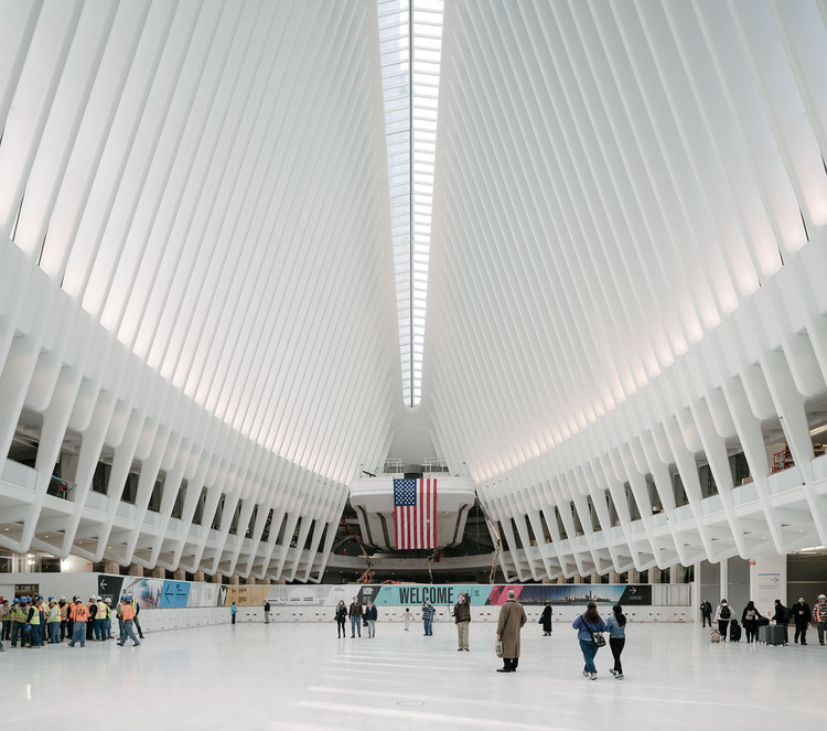 World Trade Center Transportation Hub interior view