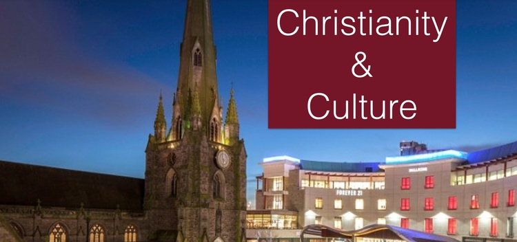 St. Martin's Church and Bull Ring Shopping Center, Birmingham England