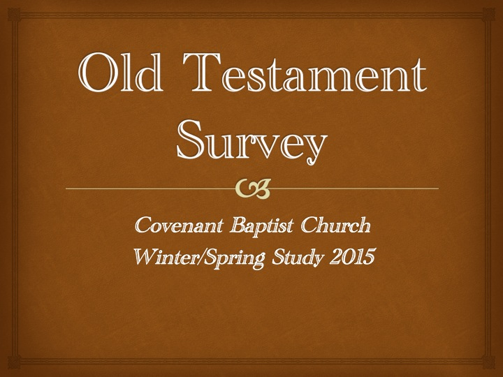old testament survey ii study guide
