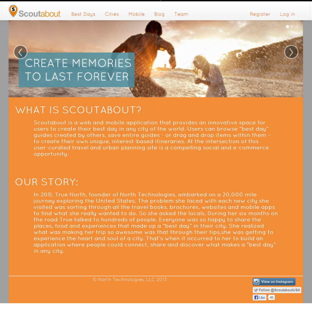 ScoutAbout Landing Page