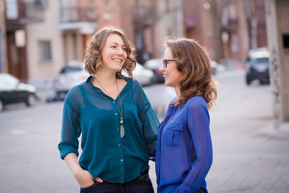 Photo Credit: Sophie Asselin. Meet Sarah (right) and Miriam (left).