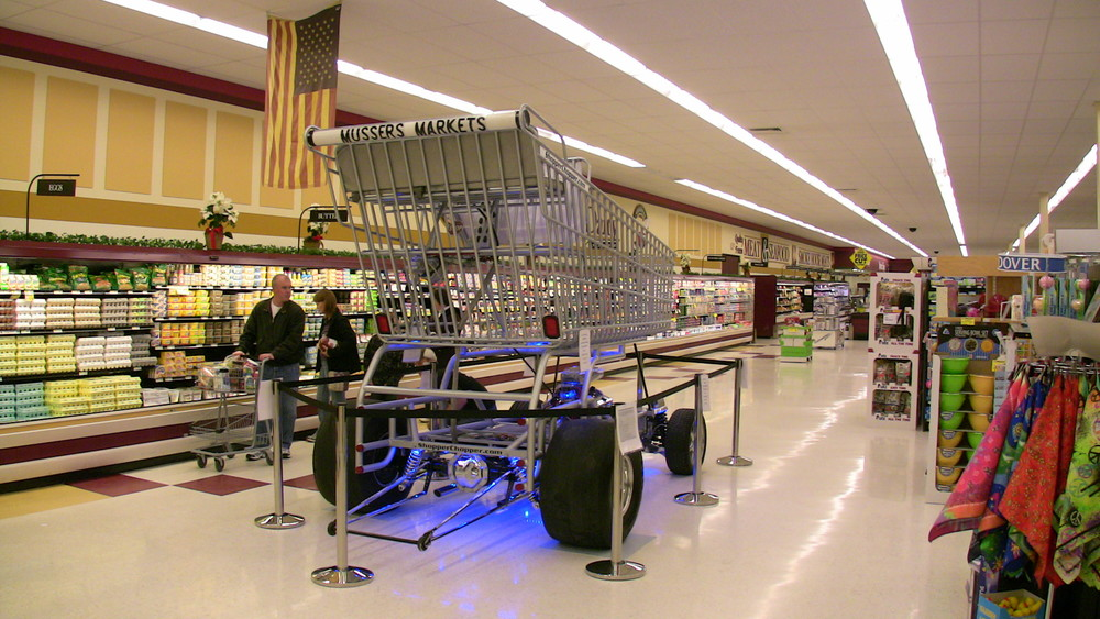 "If there is a door 6'-2"" wide and 8'-6"" tall, we can bring the Shopper Chopper inside your store!"