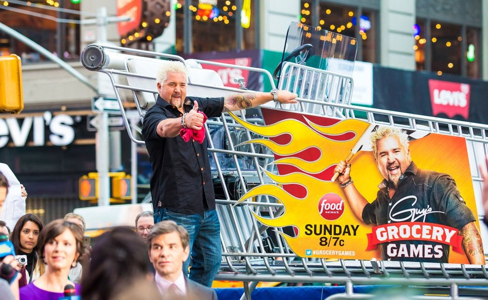 When the Food Network launched Guy's Grocery Games, we were thrilled to be part of a Good Morning America segment.  Two days of street events, launch parties and brand ambassador interaction with thousands of fans and thousands more through social media sharing.  We brought our Special Sauce to Flavor Town.  Once in your life, you should drive through Manhattan in grocery cart - it is truly unbelievable.