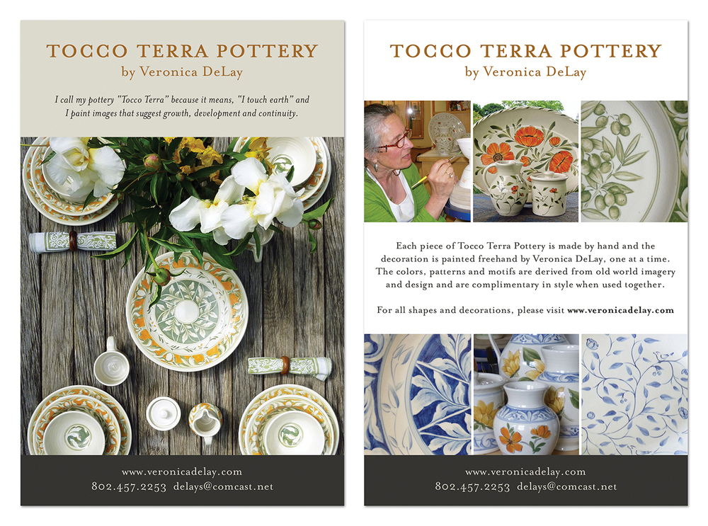 Postcard for Veronica DeLay, Tocco Terra Pottery