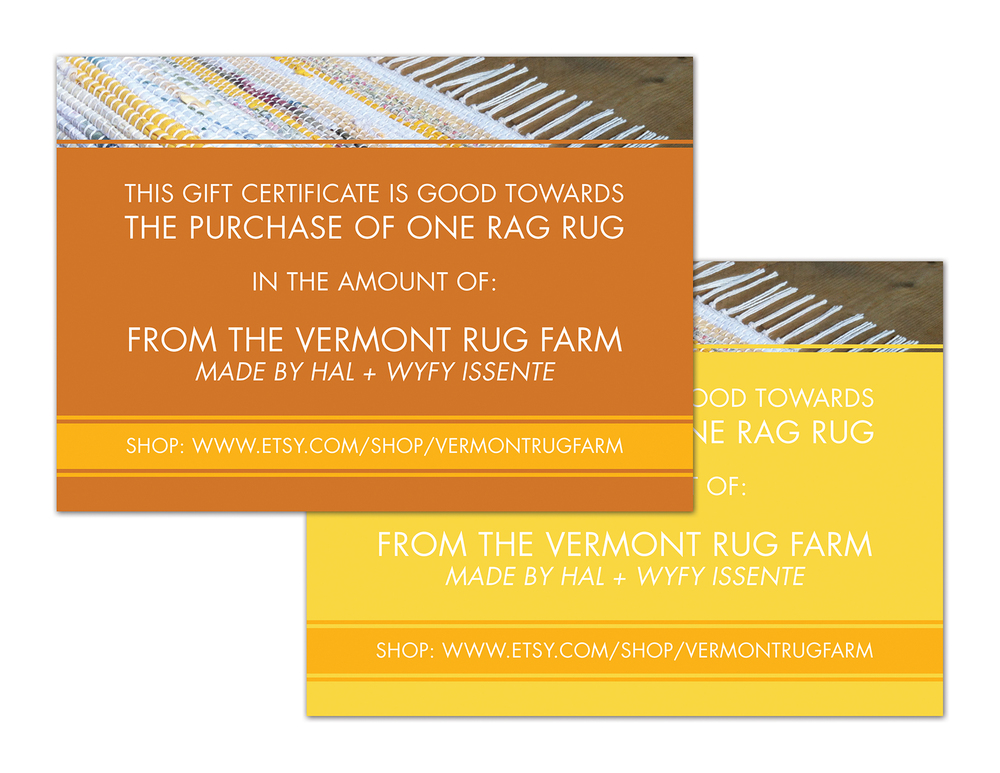 Gift Certificate for the Vermont Rug Farm