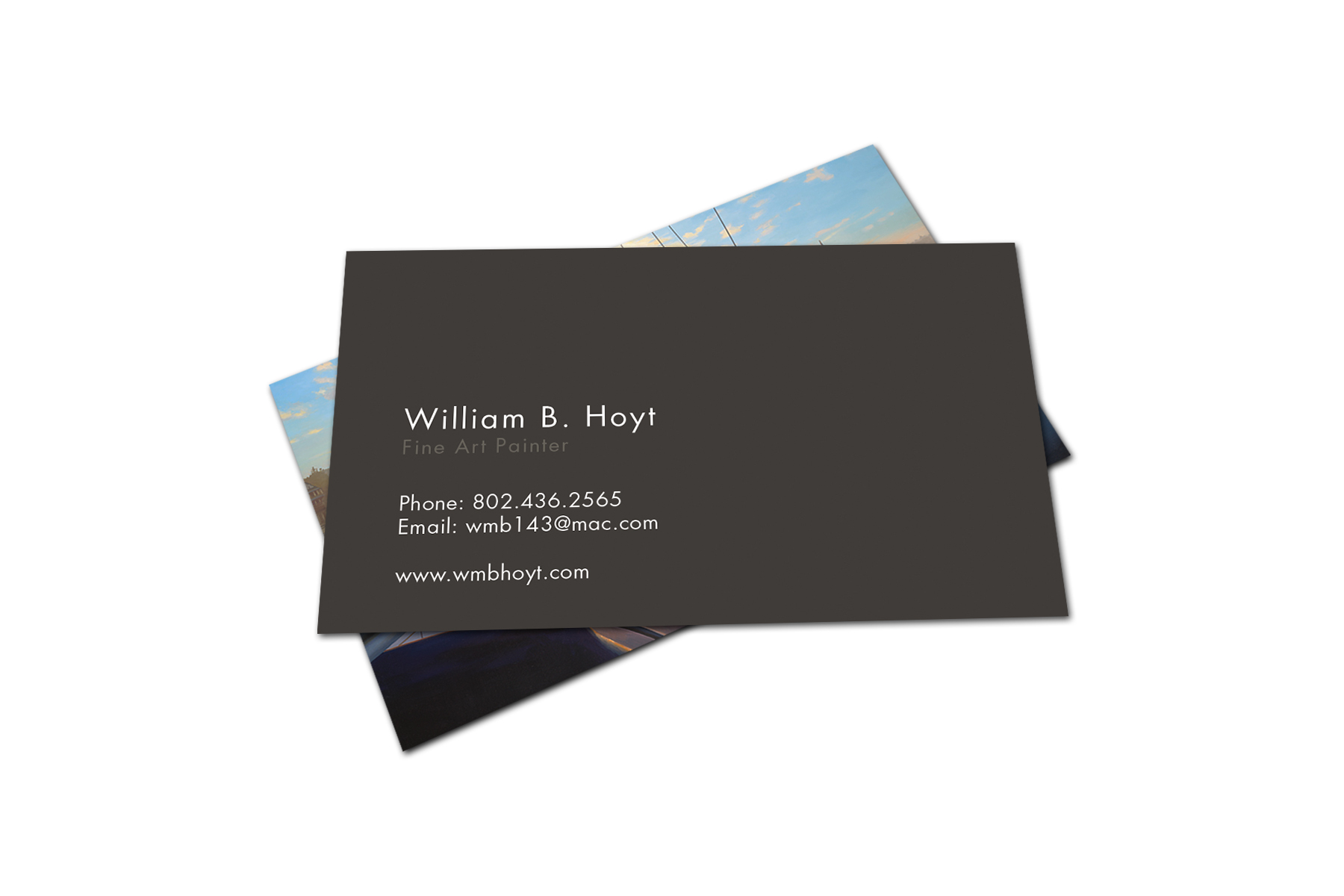 Design hali issente business card for william b hoyt fine art painter magicingreecefo Gallery