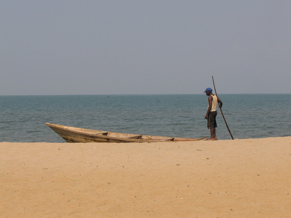 Boat guide on Lake Tanganyika in Bujumbura, Burundi