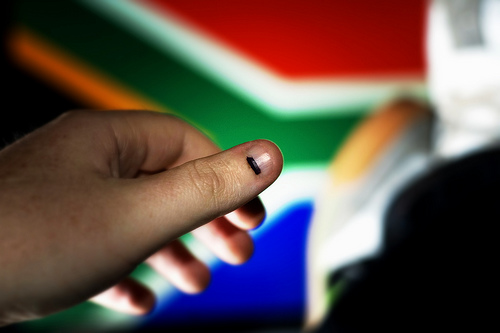 Inked after voting, South Africa, 2009 by Darryn van der Walt