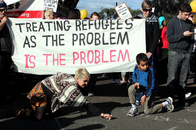 Protest against Australian mandatory detention policy in 2011 / Photo by John Englart