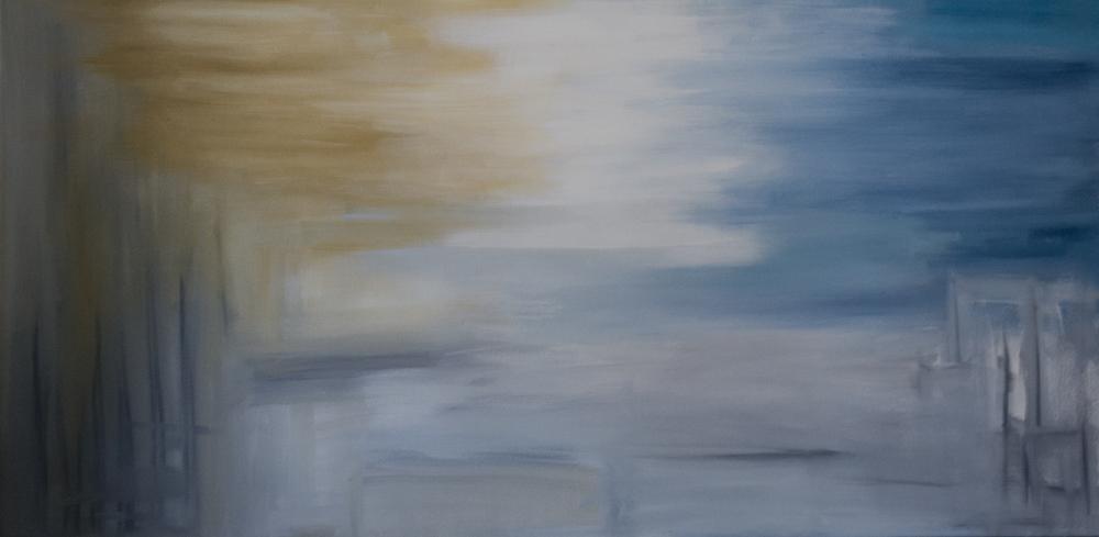 """""""Where"""" , Acrylic, 24x48 2012"""