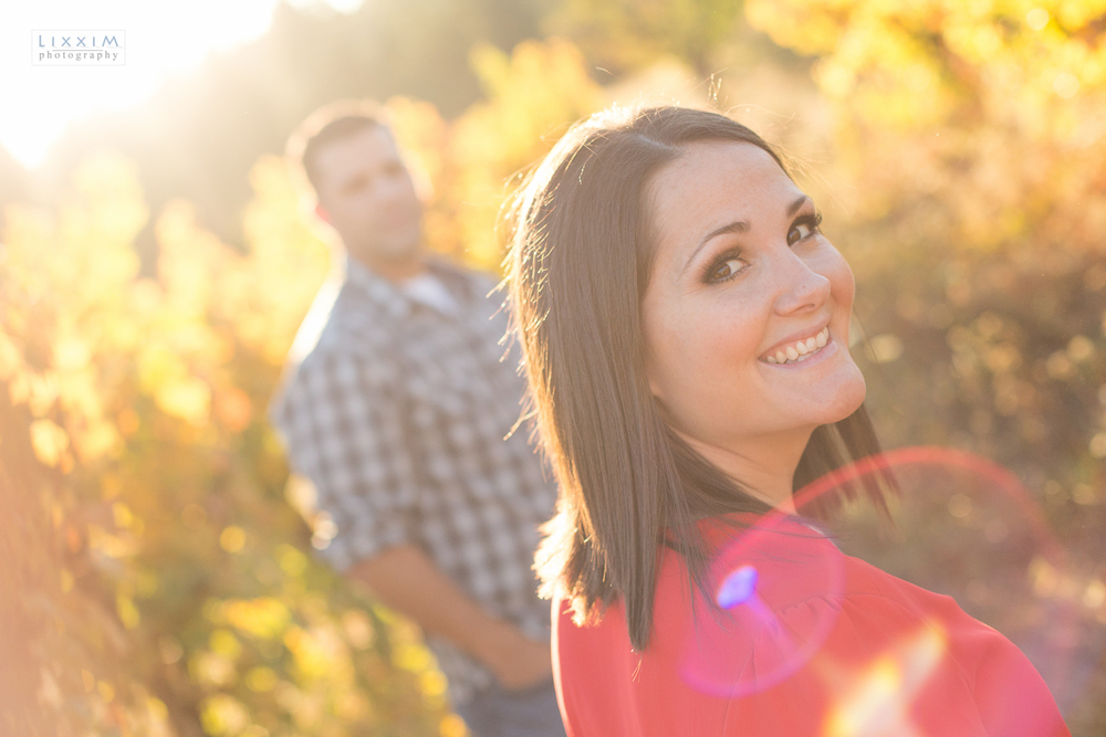 apple hill Placerville engagement picture