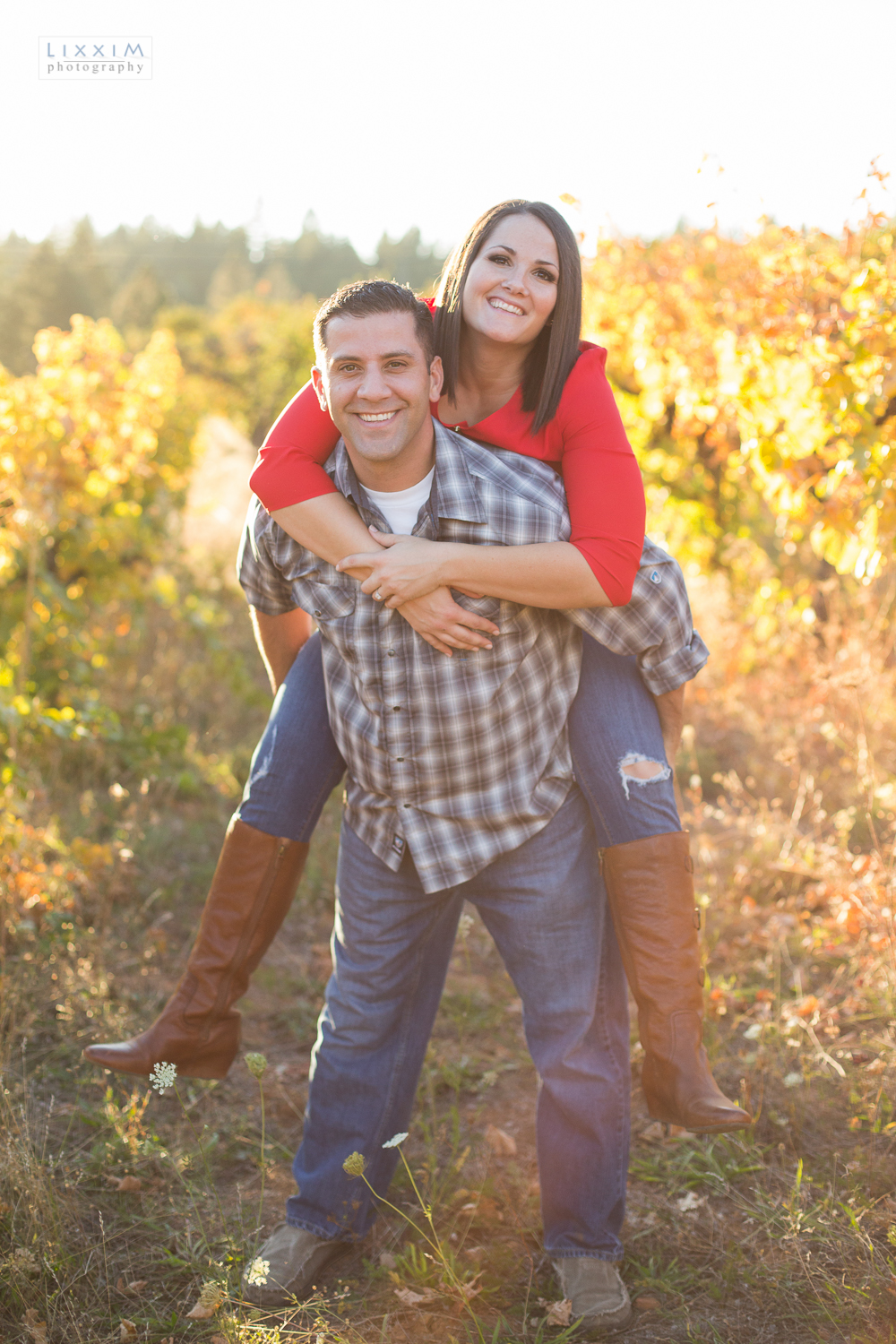 vinyards at apple hill engagement photographer