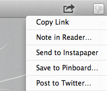 Just noticed this while using Reeder for Mac today: when you leverage the application's 'Copy Link' service, and proceed to paste the link elsewhere, it renders the snippet as a hyperlink with text reflecting the destination page's title tag (instead of the typical URL address). This guy thinks of everything.