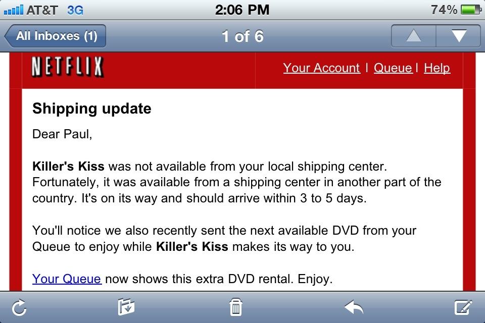 Thanks,  Netflix .