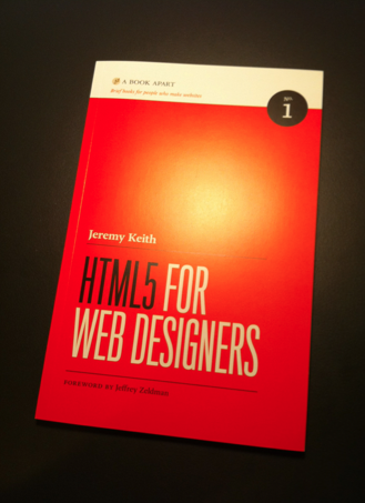 Fairly pleased my copy of  HTML5 for Web Designers  arrived.   Thanks, bro.