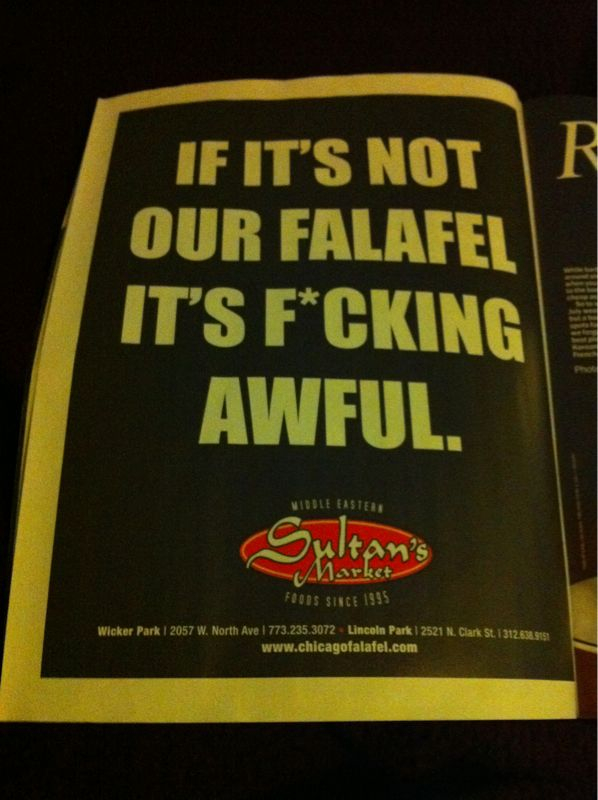 Stay classy, Sultan's.