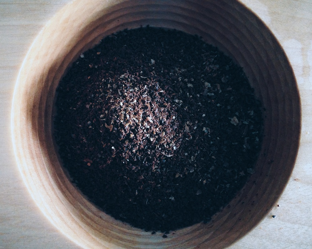 Coffee Grounds in Canadiano Coffee Maker