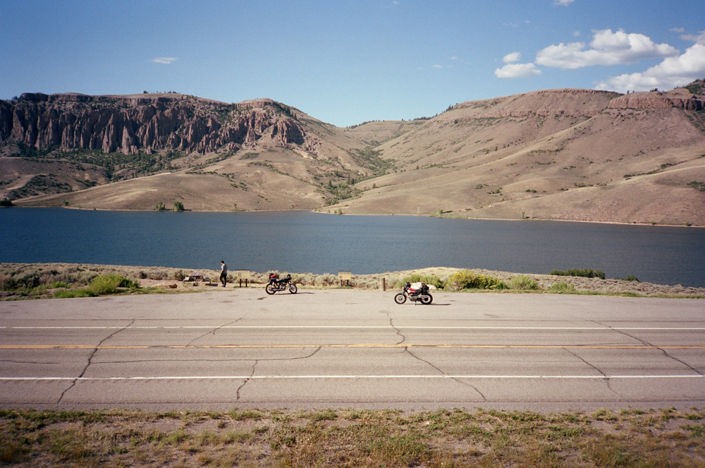 ahh, now we're talking. look at those mesas! we approached the end of the rocky mountains and the landscape shifted again. this was a few miles from the utah border. every time we entered a new state it was kind of a big deal, but when we got into utah it dawned on me that we were very far from home. for every picture i took, there was 50 others that i didn't take because we would have been stopping every five minutes. the land out here is just unreal.
