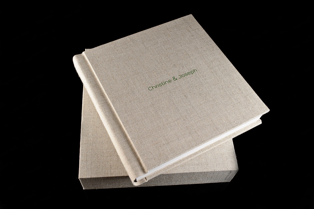 wedding album made with burlap 5