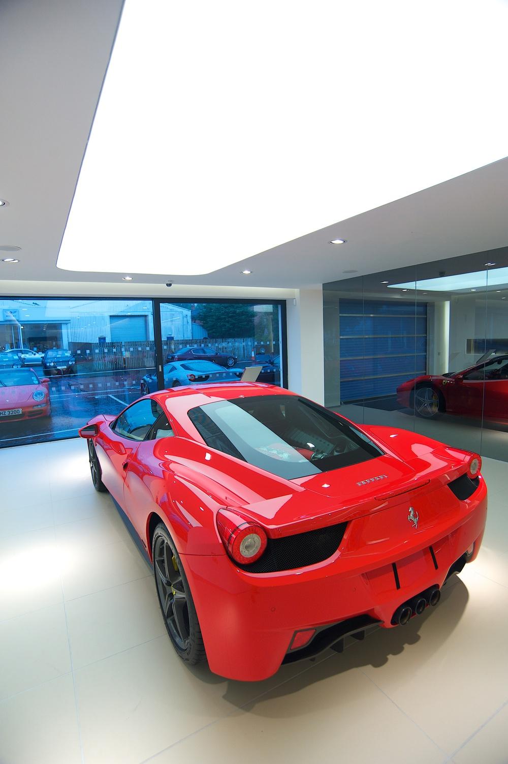 Ferrari- Maserati showroom Belfast
