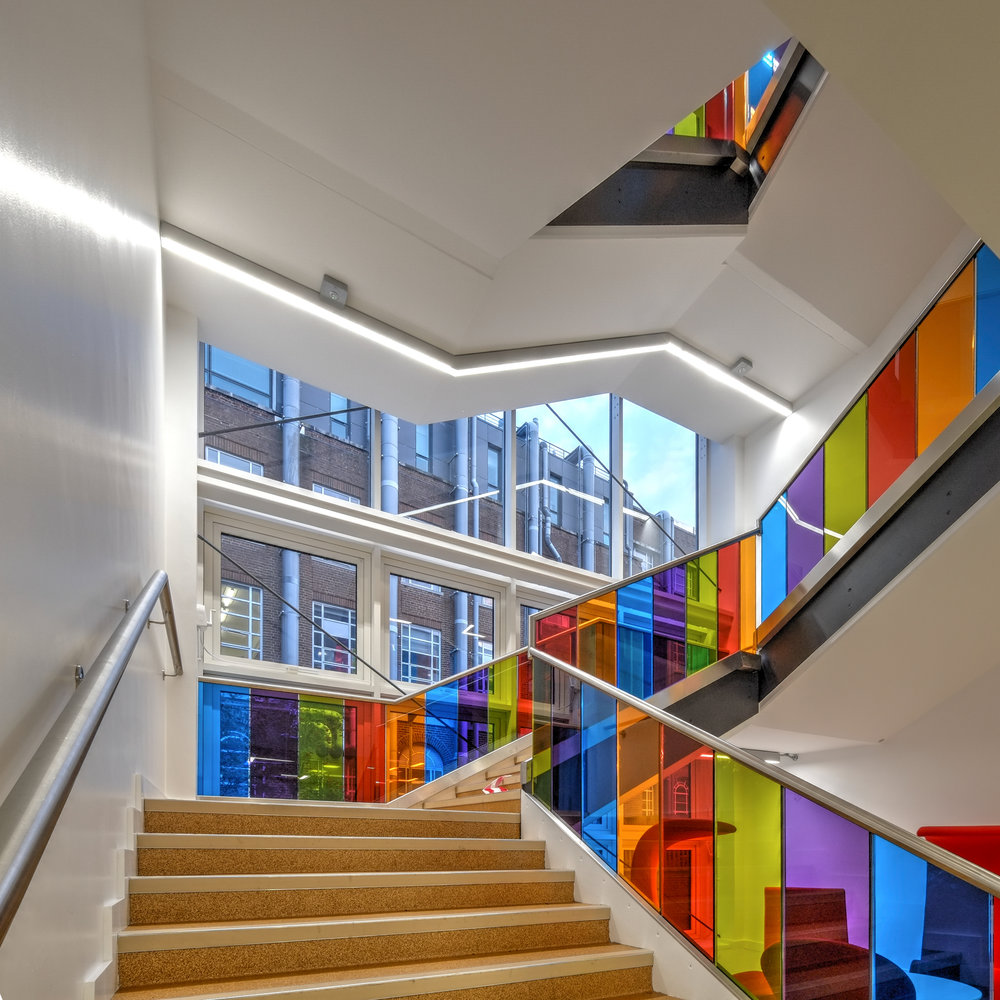 Bernard Crossland Building:  Central staircase