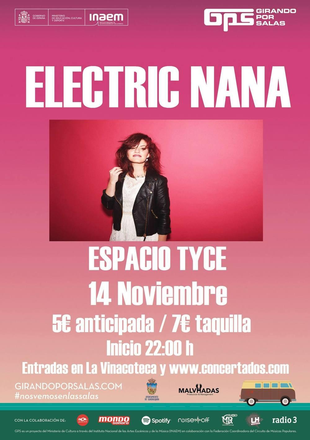 Pues sí, ya es otoño ¡Habrá que ir haciendo planes! 14/11 ElectricNanaenEspacio Tycepor sólo 5€ anticipada en www.concertados.com