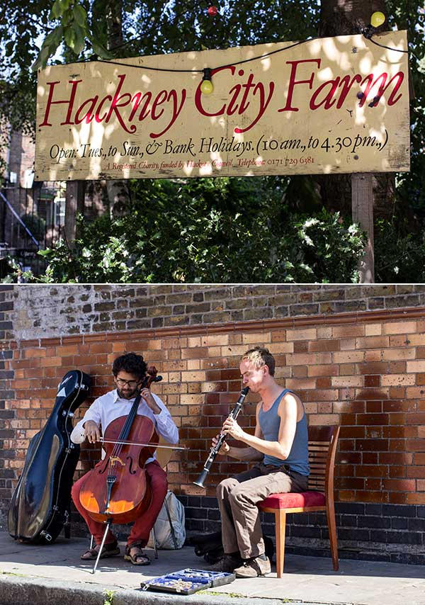 Hackney City Farm (one of the best breakfasts in town) and the Ezra Street Players.