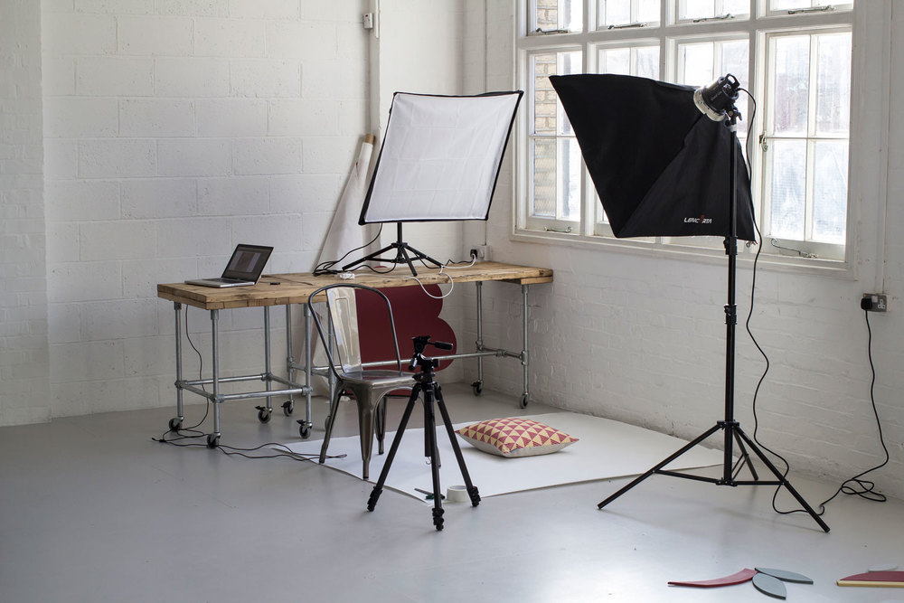 Shooting cutout images for Woven Oak at Studio Four N16.