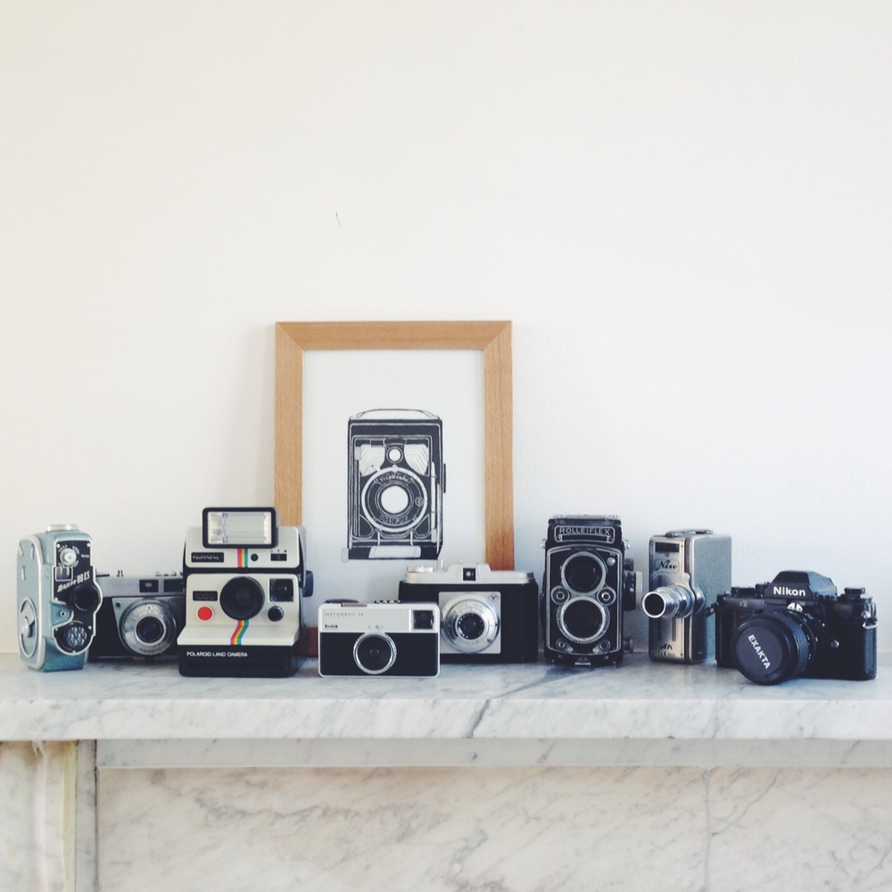 A sample of my vintage camera collection.