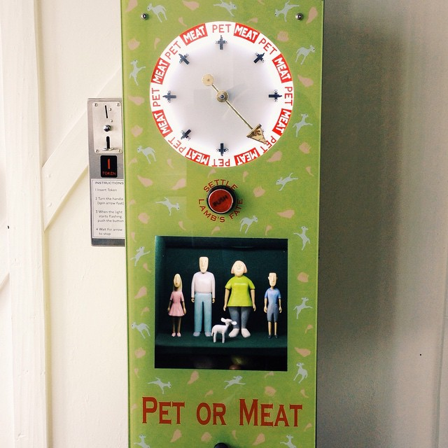 If passing Holborn be sure to visit the wacky world of automations at  'Novelty Automation'. Highlight include the delightful 'pet or meat' where you crank a wheel to decide the fate of a little lamb! Bonkers. #automation #holborn #arcade #coinoperated #m