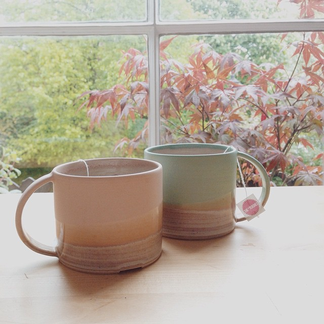 Yesh&Tash are loving these mugs from the very talented @elacey #ceramics #tea #maker #stoneware #handmade #studio Available from the Conran shop.