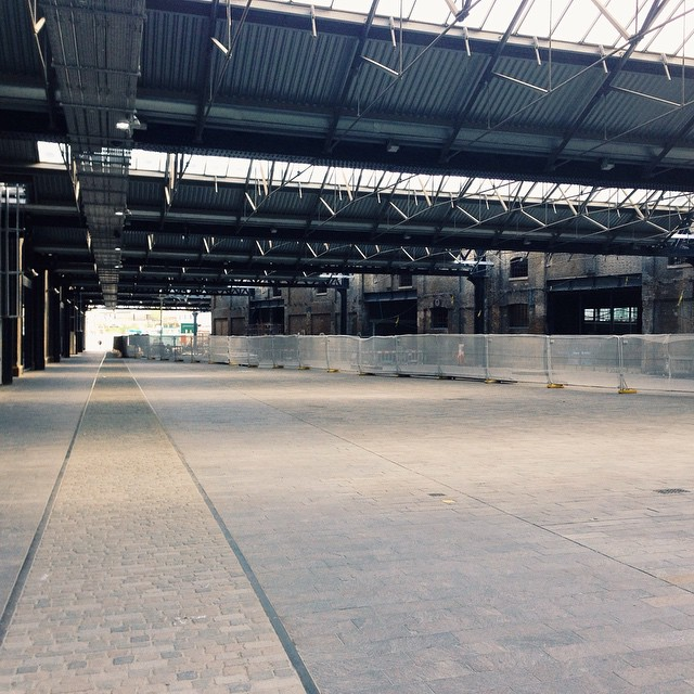 It's opening up behind Kings Cross #NC1 #kingscross #granarysq #warehouse