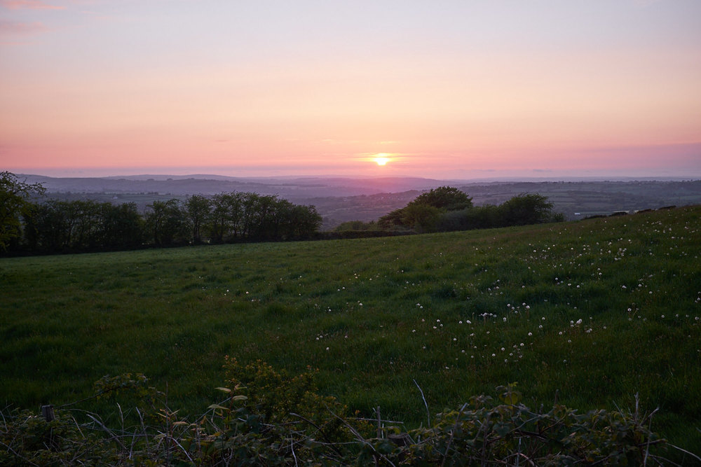 Sunset on the last evening