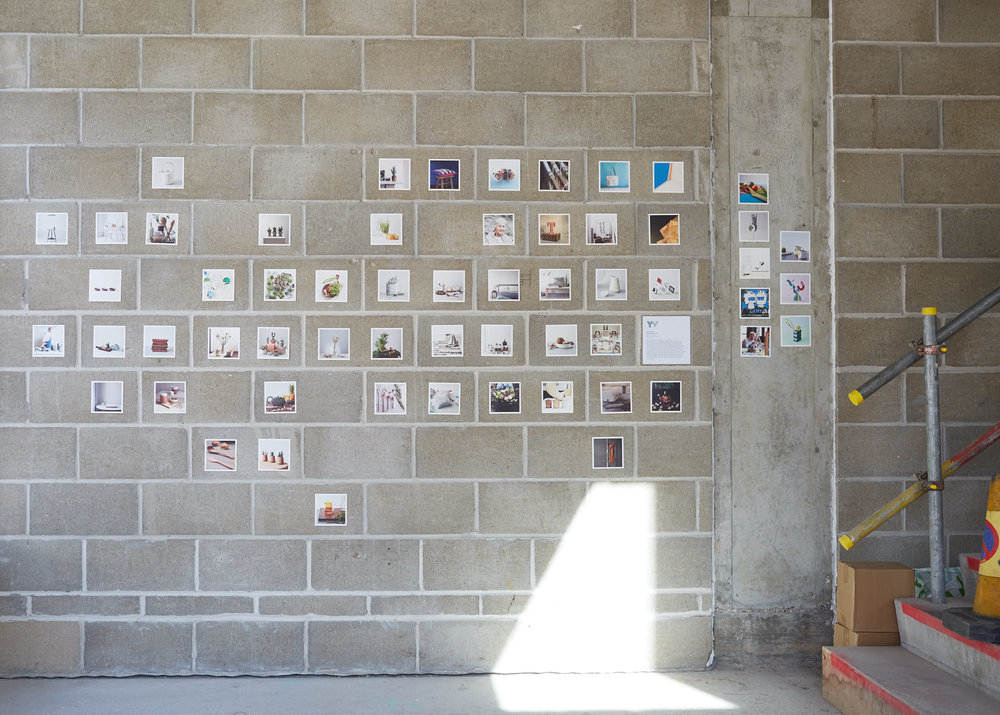 The wall of mini prints I created especially for the exhibition.