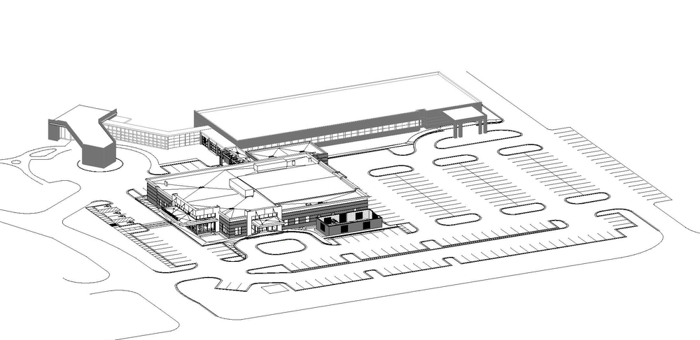 Regional Medical Center Dialysis Access Institute REVIT model after final drawings