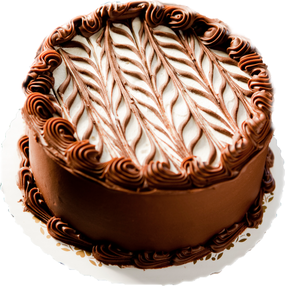 Marble Cake with Chocolate and White Icing
