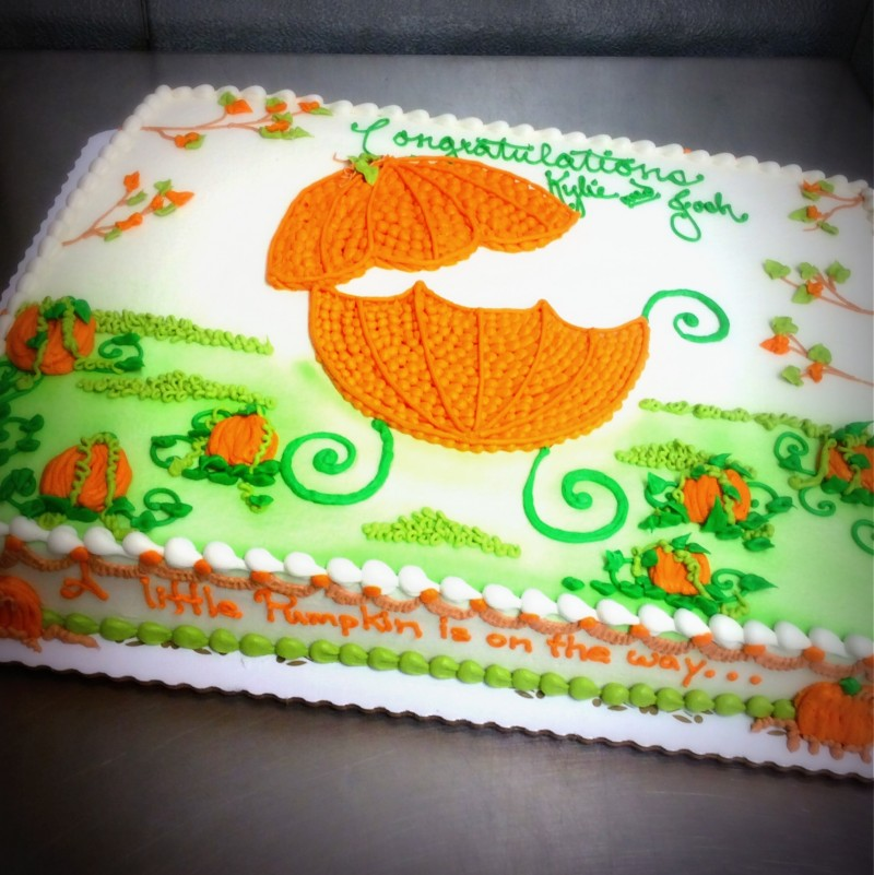 Autumn Baby Shower Cake