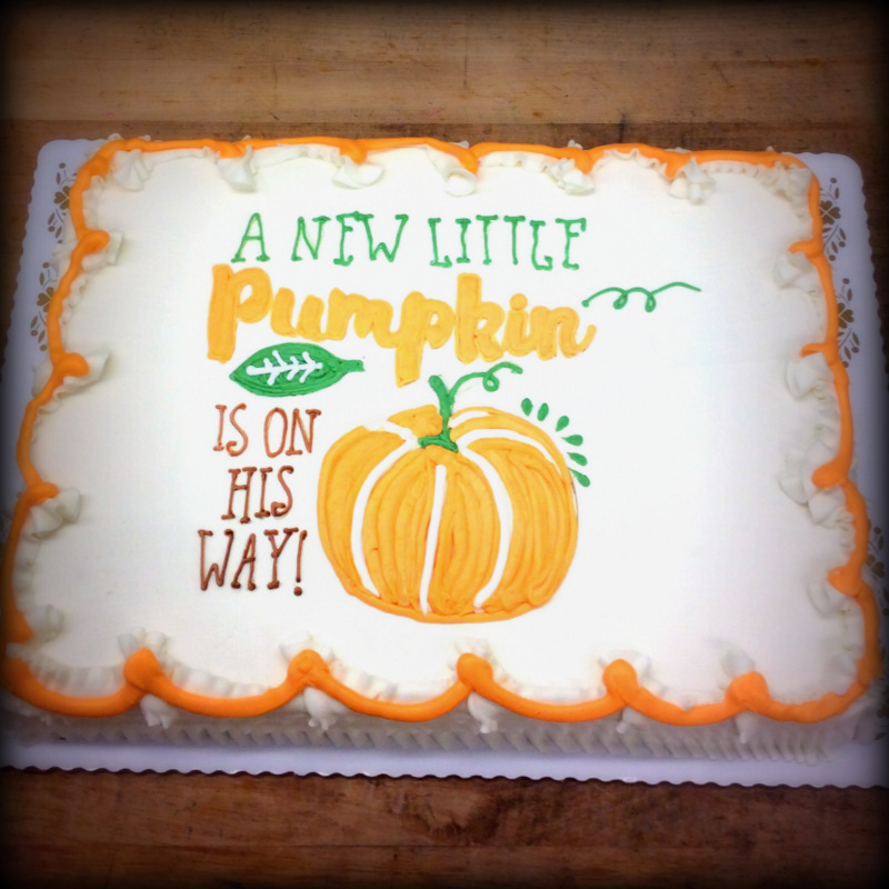 Pumpkin Baby Shower Cake