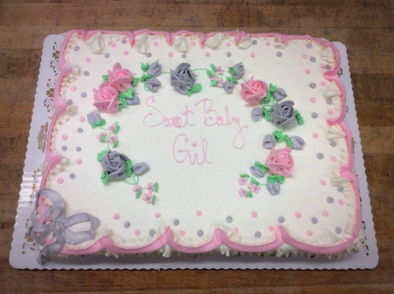 Sweet Baby Girl Sheet Cake