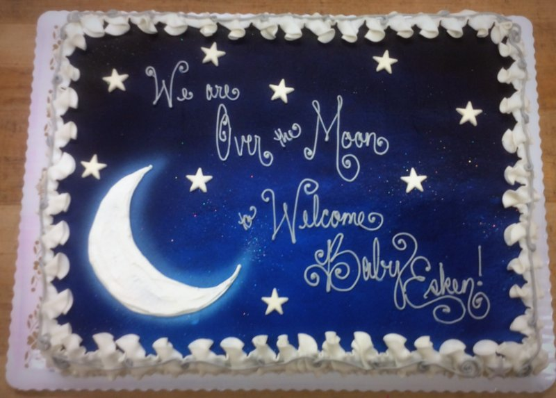 Moon Theme Baby Shower Cake