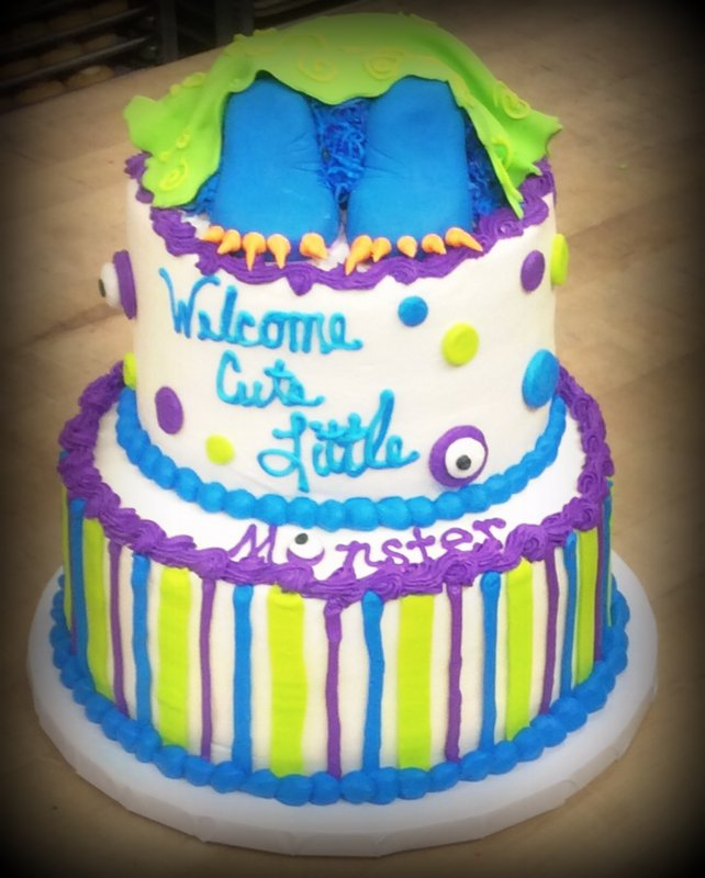 Monster Feet Party Cake