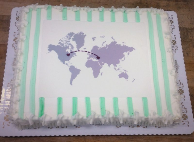 Adoption Celebration Sheet Cake
