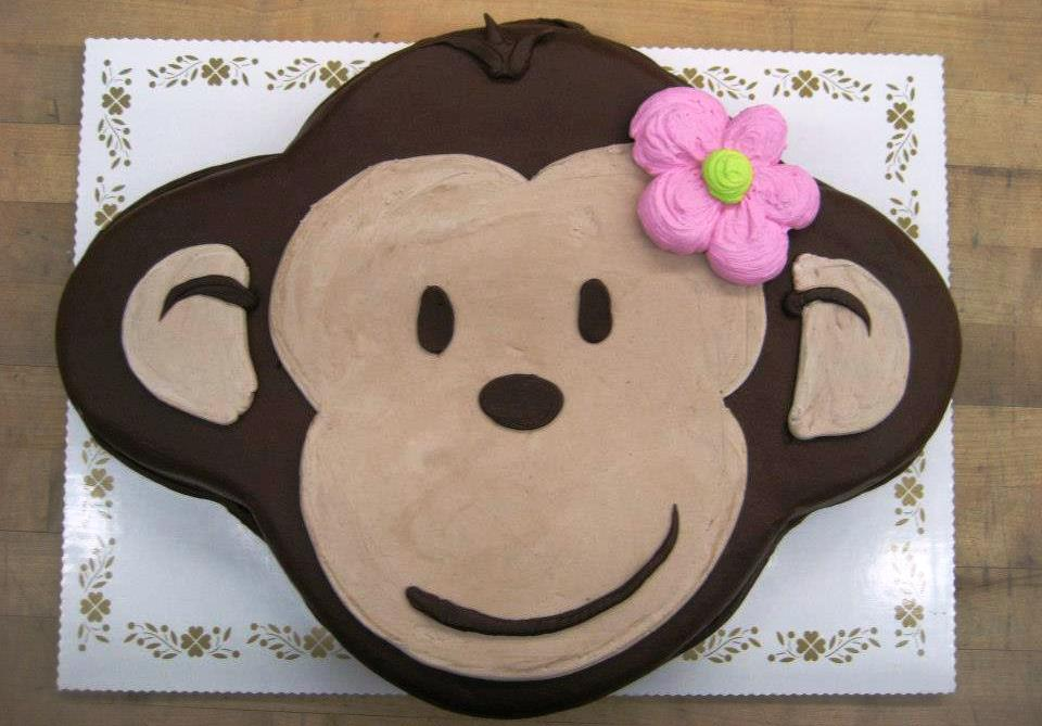 Monkey Face Shaped Cake